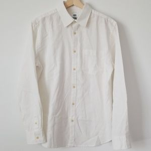 Old Navy Shirts - Cotton Linen Slim Fit Long Sleeve Shirt